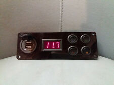 12v Campervan Switch Panel Vw Lights Voltmeter USB