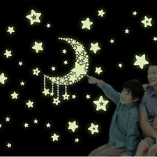 Baby Bedroom Glow In The Dark Moon and Stars Wall Sticker Luminescent Home Decor