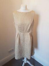 Mint Velvet Gold Pencil Dress Size 14