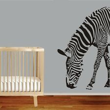 Large Size Zebra Wall Decor Removable Home Vinyl Kids Baby Decal Sticker Art DIY