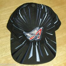 California Angels hat Vintage 90s Snapback hat earthquake style black 90's RaRe