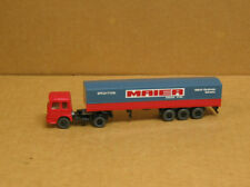 Wiking 517 Ho Man truck with Maier tri-axle trailer