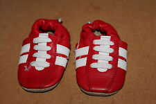 Shooshoos Arsenal baby shoes 0-6 Football Gooners Natural Leather