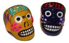 "2"" Mexico Folk Art Talavera Clay Ceramic Sugar Skull Day of the Dead Magnets (2)"