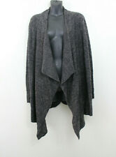 Barefoot Dreams S/M Open Front Draped Cardigan Sweater Bamboo Chic Lite Brown
