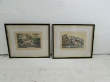 2 Antique Paysages Italiens Engravings After Louis-Francois Cassas, Eng by Coyny