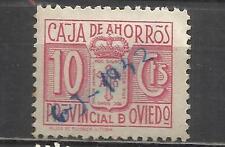 7563A-SELLO FISCAL LOCAL CORPORATIVO 1939-42.CAJA AHORROS  OVIEDO,ASTURIAS.