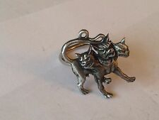 Cerberus code dr90 In Greek Emblem Made From English Pewter on a Scarf Ring