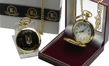 SAS Pocket Watch Badge Crest 24k Gold Luxury ARMY SPECIAL AIR SERVICE Gift