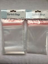 """Ziplock Bags 4x6"""" Lot Of 2 (80 Total) Resealable Poly Art Craft Bead Jewelry"""