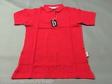 Size SMALL Slazenger RED 100% Cotton Short Sleeve Womens Polo Shirt Collar New