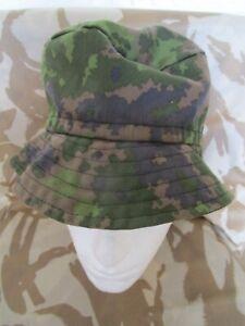 FINNISH Boonie HAT cap Bushcraft WOODLAND dpm Rare Finland ARMY BDU prepper VGC