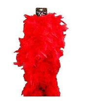 Costume Party Accessory 1920s Flapper Gangster Burlesque Deluxe Boa 180cm Red