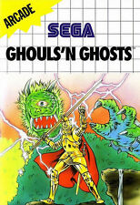 Ghouls'n Ghosts SEGA Master System Framed Print (Man Cave Picture Game Gaming)