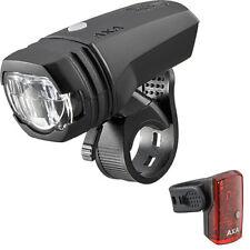 AXA GreenLine 50Lux Set Akku Fahrradfrontlampe + Rücklicht 2 LED StVZO-Zulassung