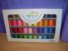 BROTHER EMBROIDERY THREAD 40 GENUINE SATIN FINISH ASSORTED COLOURS FREE DELIVERY