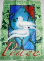 "Decorative Garden Flag 12"" x 18""   PEACE DOVE'S"