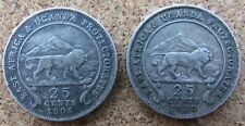 East Africa and Uganda Protectorates 25 Cents 1906 1910 H