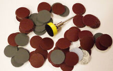 PLATEAU VELCRO + TIGE + 100 DISQUES  PONCAGE  5 GRAINS DIFFERENT DREMEL PROXXON