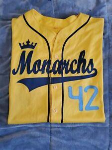 KANSAS CITY MONARCHS #42 JACKIE ROBINSON STITCHED JERSEY RARE SZ M
