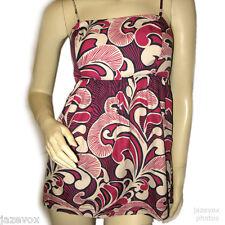 BANANA REPUBLIC Womens Sleeveless Spaghetti Top Blouse White Pink Floral Print 4