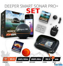 Deeper Smart Sonar Pro + Plus SET Wifi + GPS + Night Fishing Cover + Case XL