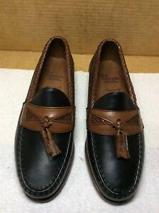 New Allen Edmonds Maxfield 6.5 EEE black/brown {R}