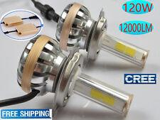 2x 120W 12000LM CREE LED headlight bulbs light lamp kit H1 H4 H7 H11 white 6000K