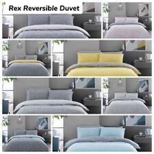 Luxury Duvet Set Stylish Soft Quilt Cover Rex Reversible Matching Pillowcases