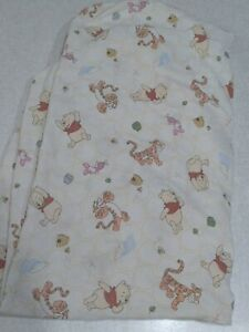 Winnie The Pooh Baby Crib Sheet Fitted Yellow Piglet Tigger