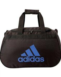 Adidas Diablo II New Black/Blue Small Duffel Bag Gym Bag !!