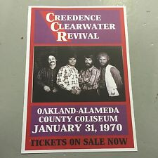 CREEDENCE CLEARWATER REVIVAL - CONCERT POSTER OAKLAND 1970    (A3 SIZE)