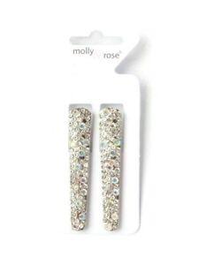Pack of 2 Crystal Diamante Beak Clips Hair Clips Grips Slides Hair Accessories