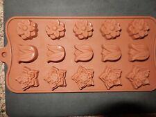 15 agujero Tulipán Flor Forma molde de silicona Hielo Caramelos Chocolate Pastel