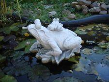Gartenfiguren, Frösche, Wasserspeier, Teichfigur, Skulptur Steinguss, Gartendeko