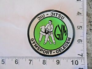 GYMSPORT-OELEGEM  Jiu Jitsu Gi Patch  Vintage sew on patch with FREE shipping