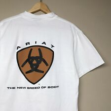 VTG 90S Ariat Boots T Shirt The New Breed Of Boots Cowboy Graphic Power T Mens L