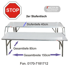 Verkaufstisch Klapptisch ALU 2-Stufentisch Ausziehtisch faltbar Mobil Markttisch