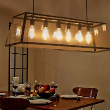 Acrylic Clear Shade Pendant Lamps 6-Lights Chandeliers Pendant Ceiling Fixtures