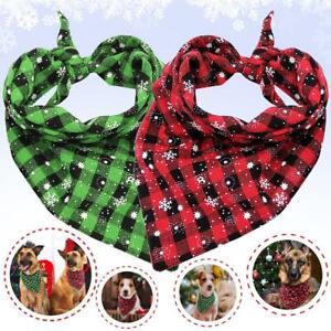 Christmas Snowflake Pet Dog Bandana Collar Soft Cotton Neckerchief Scarf Holiday