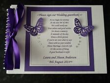 PERSONALISED GUEST BOOK WEDDING WITH POEM ON THE FRONT MOST COLOURS COMMUNION