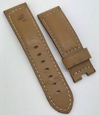 Genuine Officine Panerai OEM 24mm Tan Calf Leather Strap Tang Buckle 125 x 75