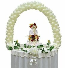 "Balloon Arch Kit Wedding Reception Cake Table Top Display use with 5"" Balloons"