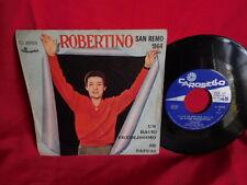 ROBERTINO Un bacio piccolissimo 45rpm 7' + PS 1964 ITALY EX- SANREMO 1964
