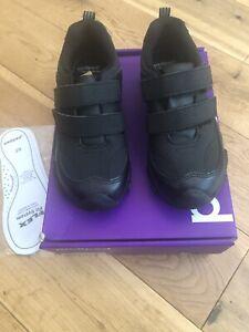 Pediped Highlander Boys Black School Shoes