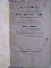 Examen critique de la découverte du coeur de SAINT LOUIS, 1844/1846. 4 planches