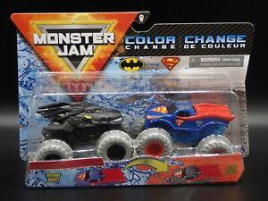 2020 SPIN MASTER MONSTER JAM MIX 11 BATMAN & SUPERMAN COLOR CHANGE