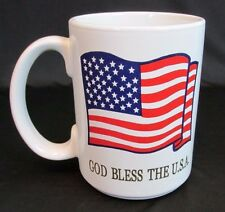 American Flag Mug Cup God Bless the Usa 16oz Large Patriotic Red White Blue