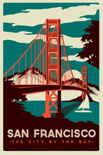 Travel Retro Poster Art Print San Francisco A4