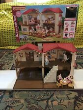 Calico Critters Red House, Rabbit, Cat, Kangaroo Animals, Excellent Toys Kids 3+